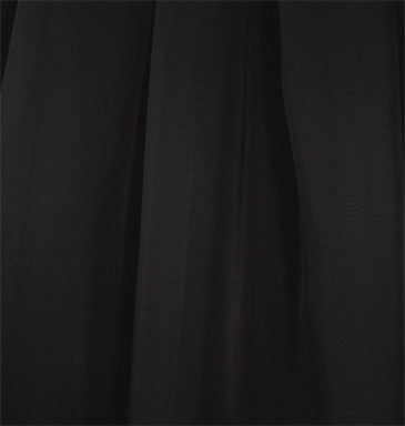 "118"" drapery sheer voile black 