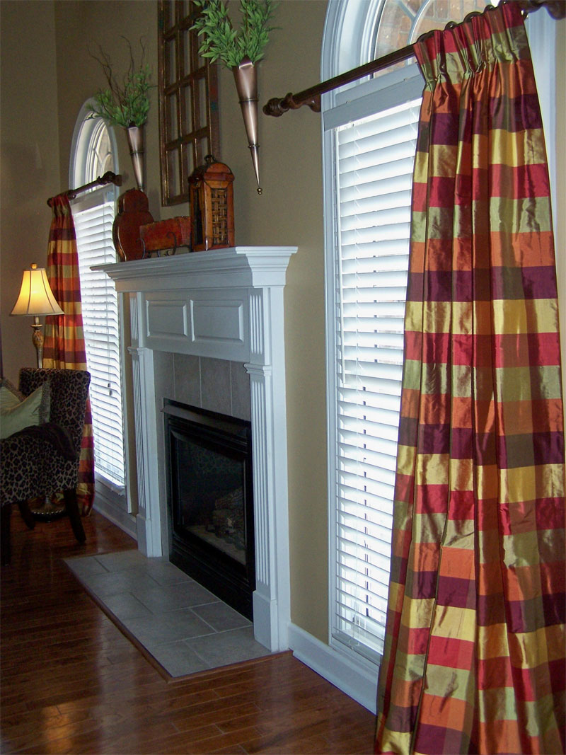 Red Plaid Curtains - Custom draperies