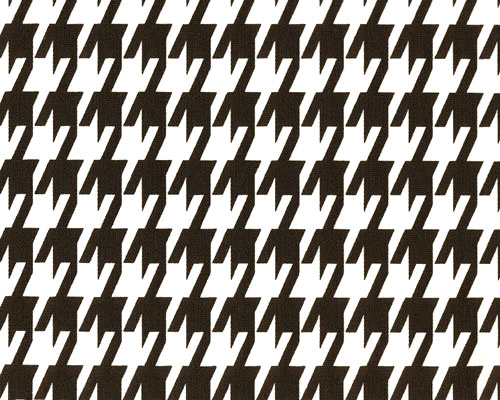 Large Houndstooth Black White Fabric