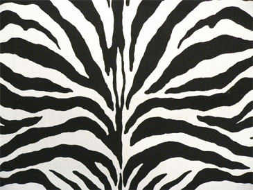 Zebra Black   Indoor/Outdoor Fabric