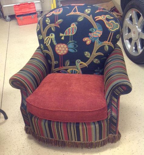 Bird Fabric Chair Crazy ol Bird Chair
