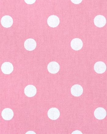polka dot baby pink white