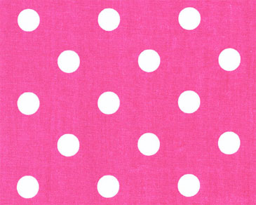 pink white. Polka Dot Candy Pink / White Fabric K
