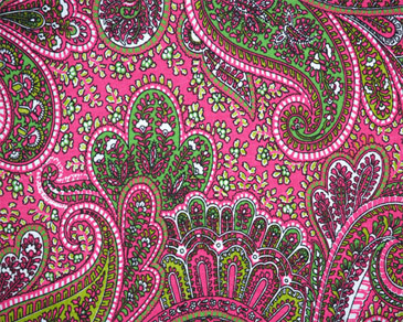 Modern Drapery Fabric - Paisley Candy Pink :  window curtains home decore drapery cotton