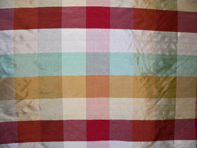 54-55 Wide By The Yard. 100/% Silk Dupion Plaid