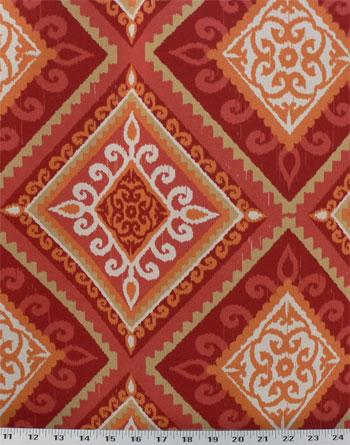 Terrasol Spanish Tile Coral - Indoor / Outdoor | Best Fabric Store ...
