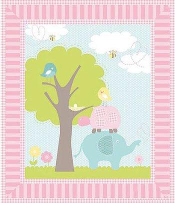 springs creative sweet meadow nursery baby quilt panel