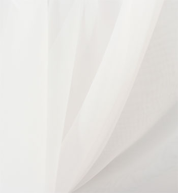"118"" drapery sheer voile - white 