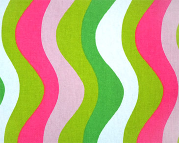 Modern Drapery Fabric - Waves Candy Pink :  window curtains waves drapery fabric home decore