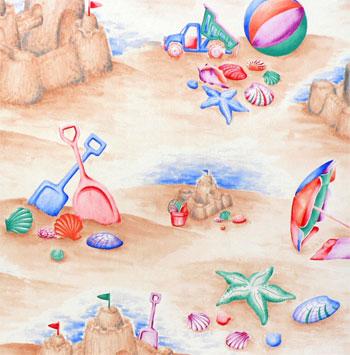 crepe print fun on the beach