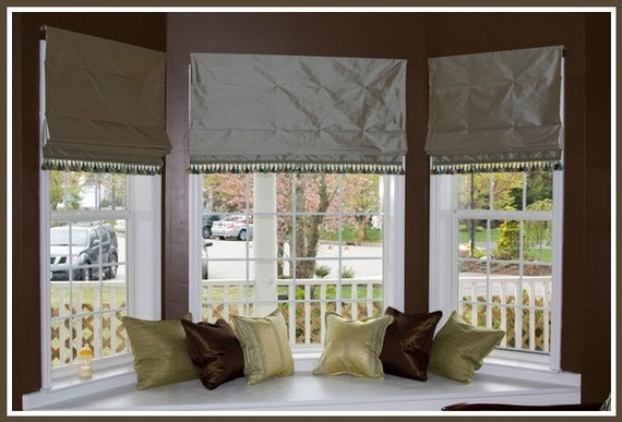Online discount drapery fabrics and upholstery fabric for Roman shades for bay windows
