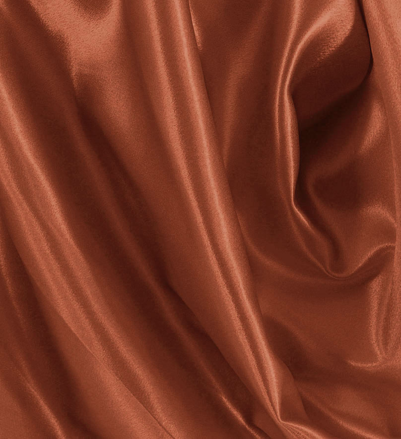 Crepe Back Satin Fabric 337 Rust Best Fabric Store