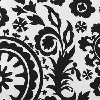 suzani black white