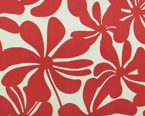 Twirly American Red Fabric Indoor, Indoor Outdoor Fabrics