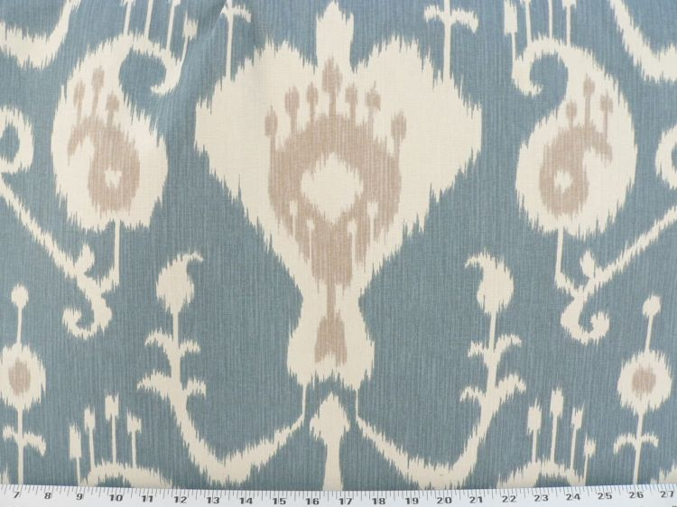 """Navy Blue Paisley 6oz Duck Print Fabric Upholstery Drapery Cotton Poly 60/""""W"""