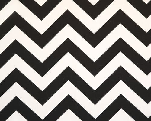 Zig zag black white fabric best fabric store