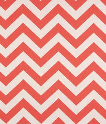Zig Zag Coral / White Fabric: Best Fabric Store