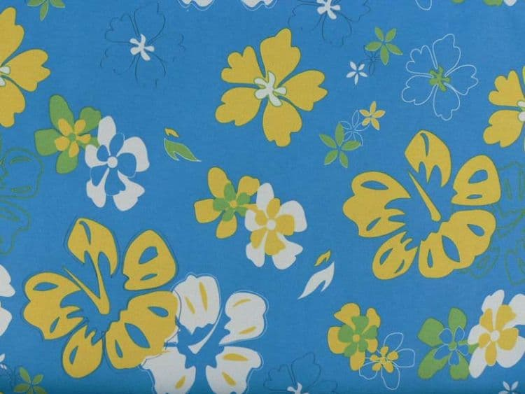 Turquoise Floral Vintage Print Brush Roll