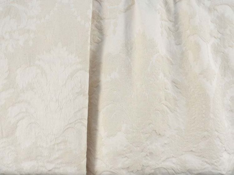 "Ivory on Ivory plaid Jacquard fabric 55/"" width BTY 90 yards NEW!"