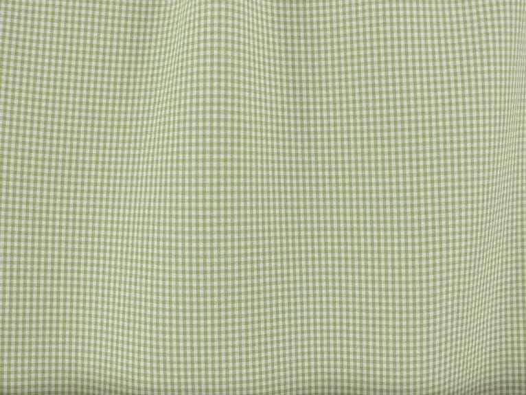 Mini Checker Poplin Apple Green Fabric Best Fabric Store