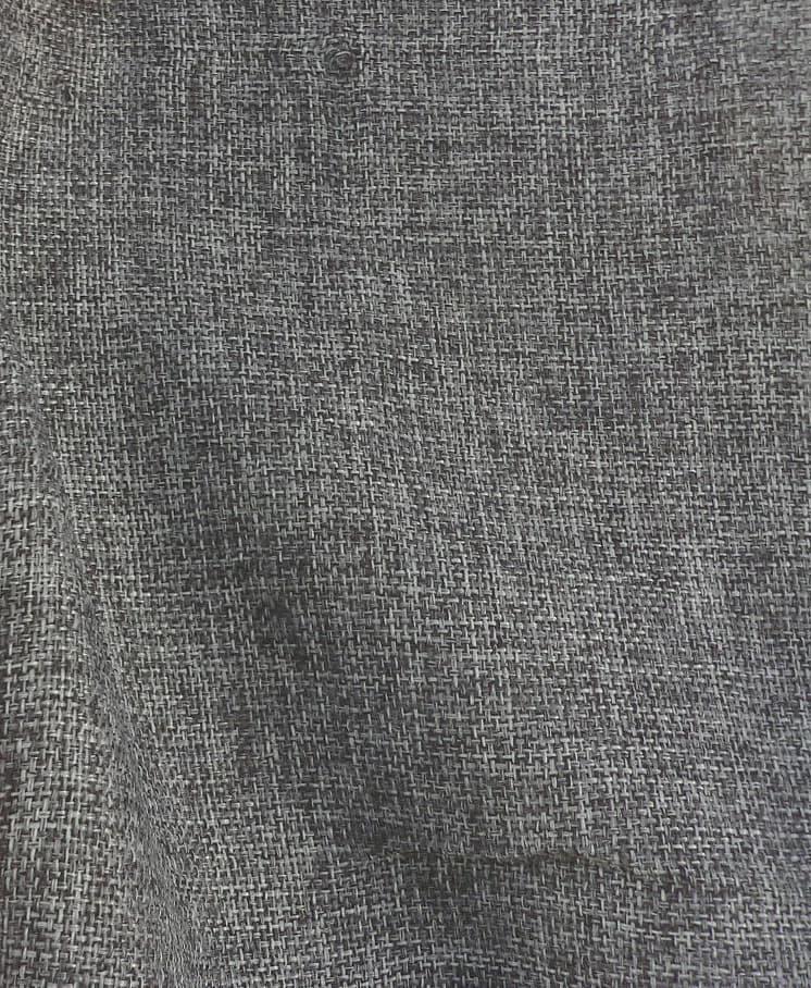 Vintage Linen Burlap Charcoal Fabric Best Fabric Store