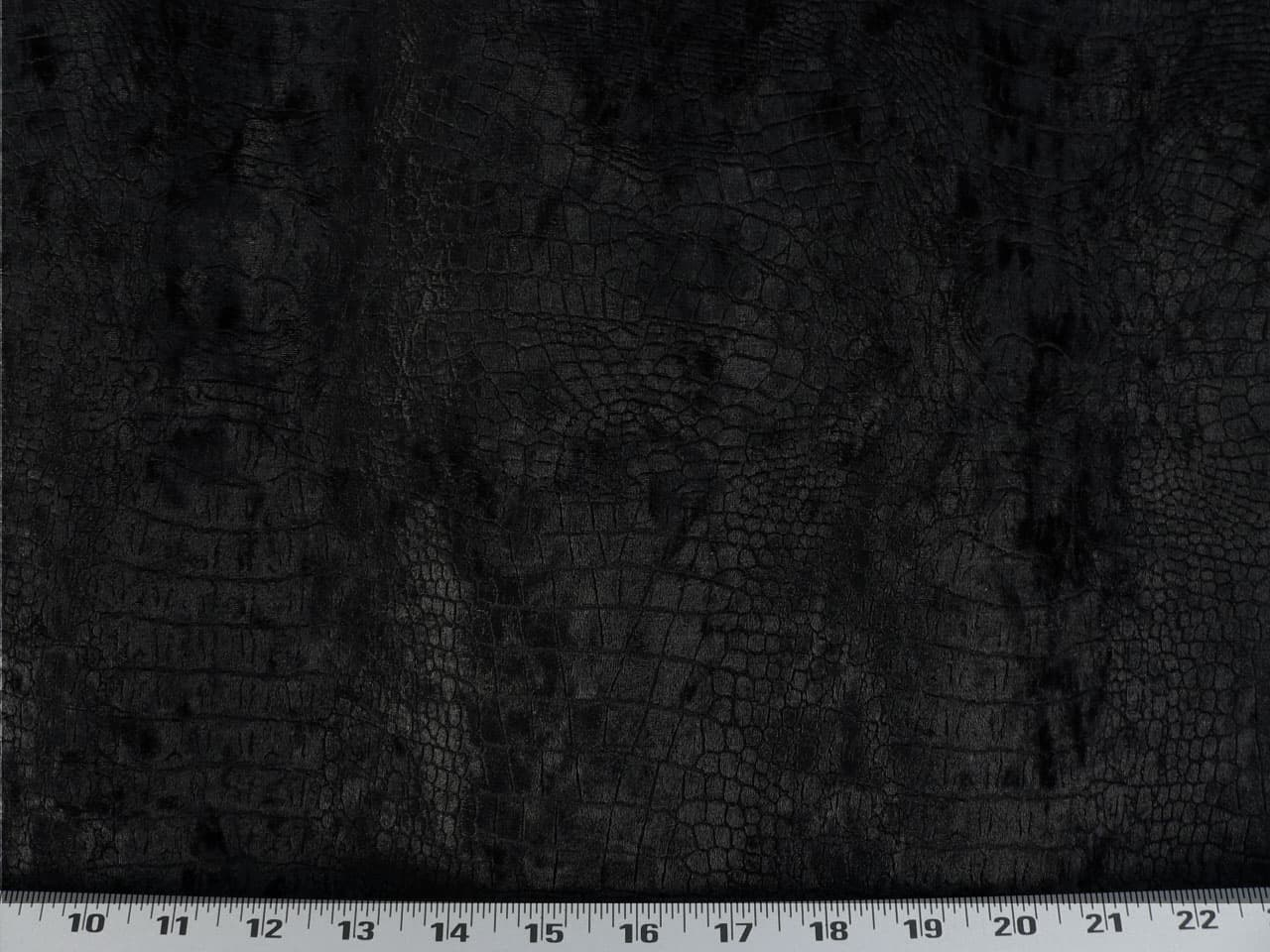 Crocodile Velvet Black Fabric 7 8 Yd Pc Best Fabric Store