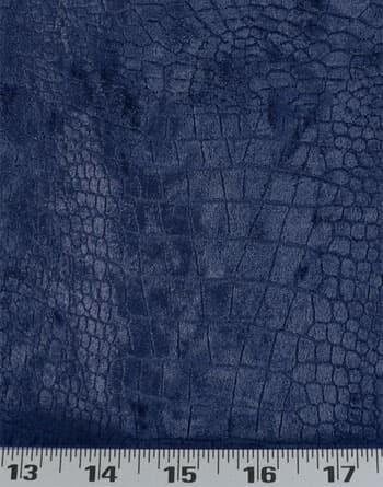 crocodile velvet indigo