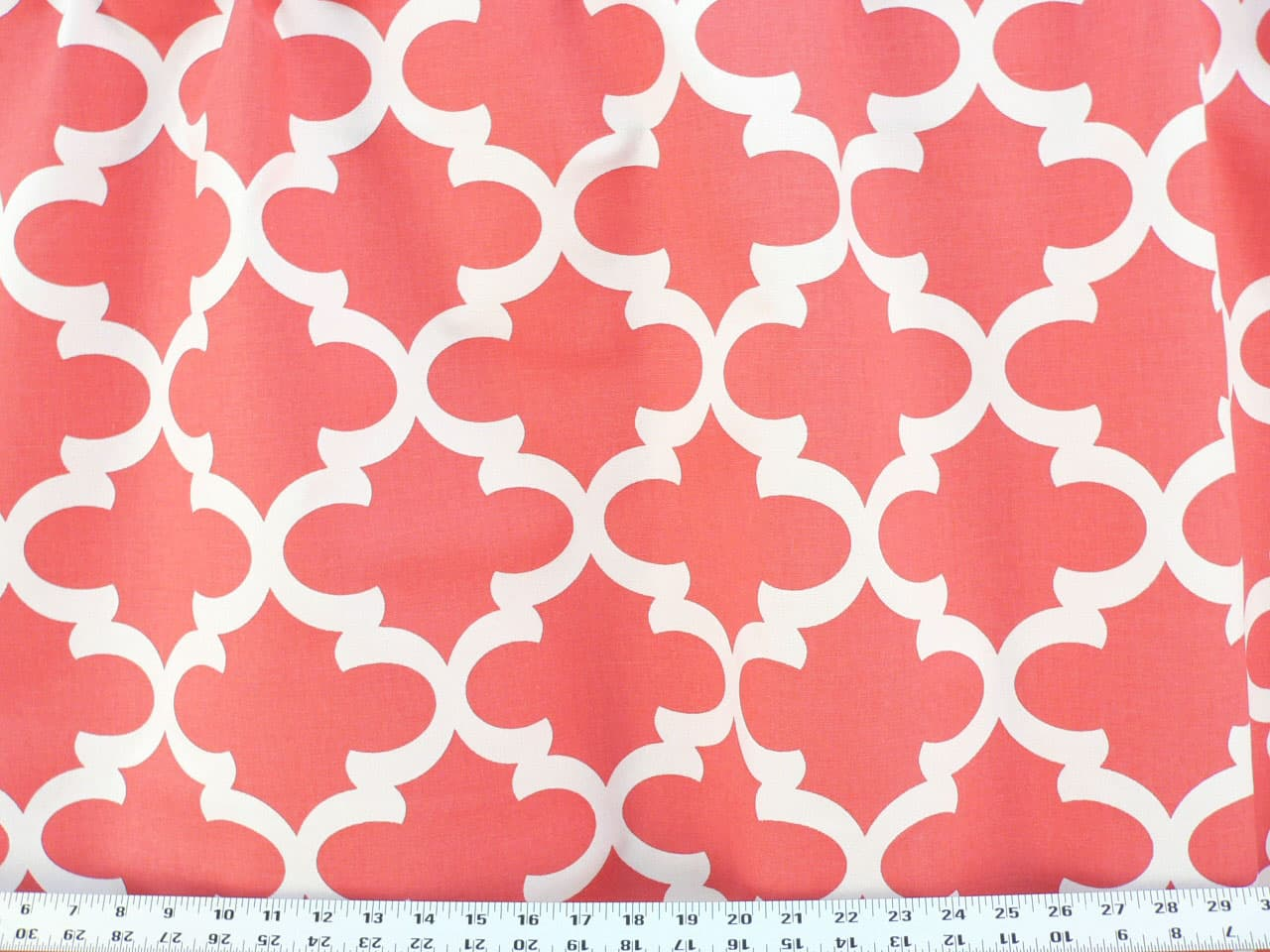 White and coral curtains - Fynn Coral White Best Fabric Store Online Drapery And Upholstery Fabric Superstore