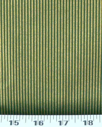 Brand-new Christmas Jewels Metallic Stripes Gold / Green Fabric: Best Fabric  FE23