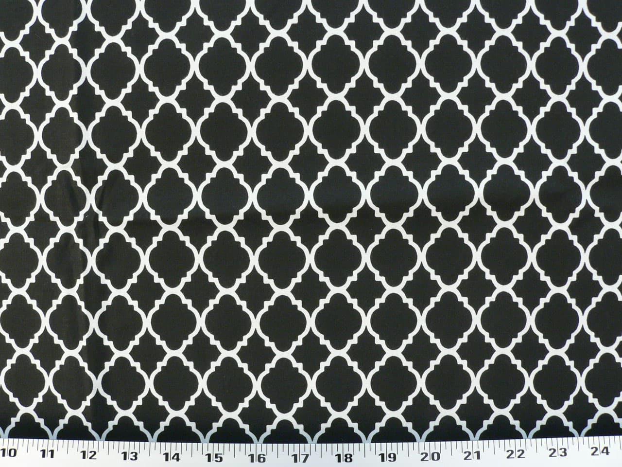 Quatrefoil Black White Fabric Best Fabric Store