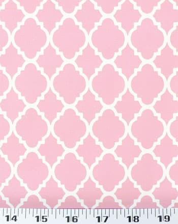 quatrefoil pink white