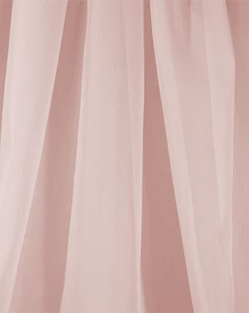 "118"" drapery sheer voile pink blush 