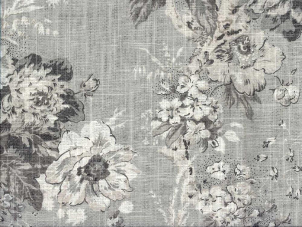 Waverly Ballad Bouquet Platinum Fabric Eta Late June
