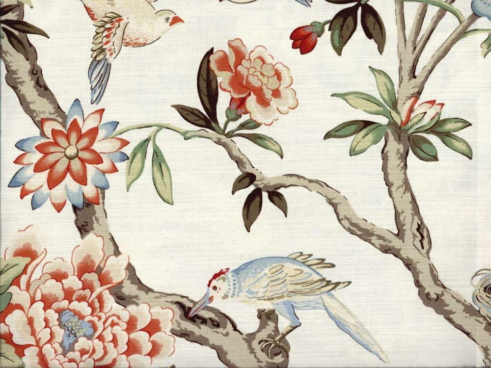 Waverly Mudan Persimmon Fabric Best Fabric Store