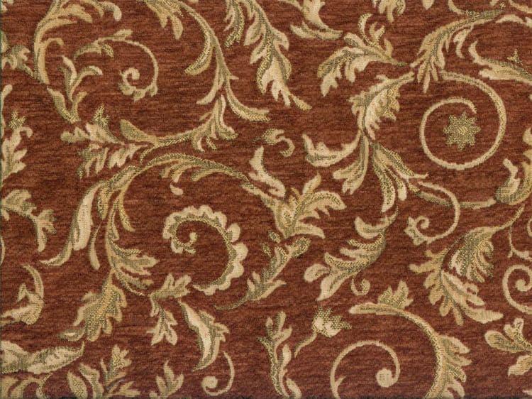 "57/"" Terra Cotta on Gold Paisley JACQUARD DRAPERY Fabric 10 Yards SALE FABRIC"