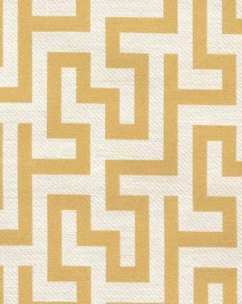 Greek Collection Greek Key Yellow Drapery Fabric Ships Separately