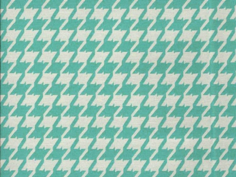 Greek Collection Houndstooth Aqua Upholstery Fabric Ships Separately Best Fabric Store