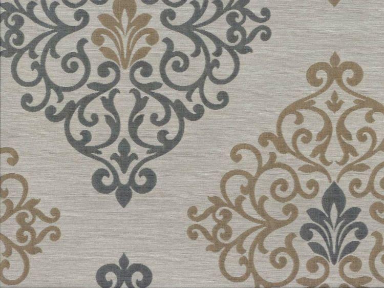 Damask Faux Silk Fabric