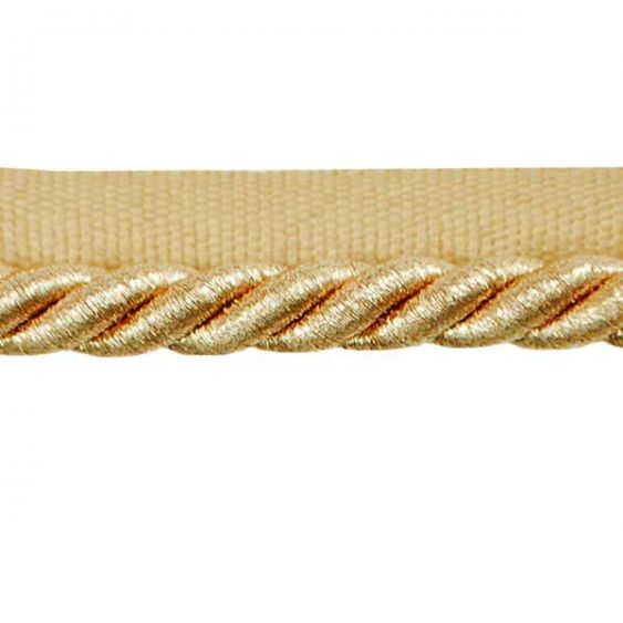 Mixed Gold Lip Cord by The Yard