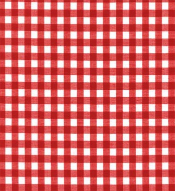 """60"""" Gingham Fabric Red - 1/4"""" 