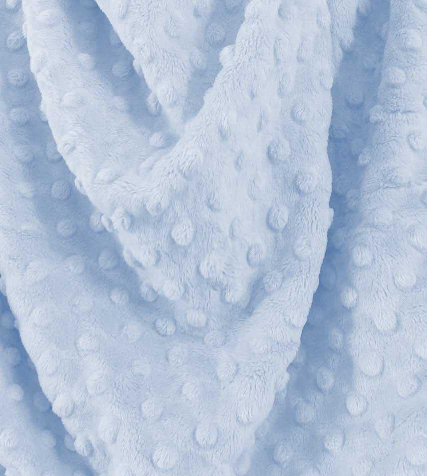 Light Blue Minky Dot Fabric 60 Wide 1yd.