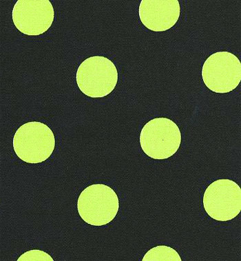 Clearance* Polka Dot Black / Lime - Indoor/Outdoor | Best Fabric ...