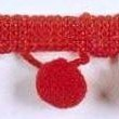 1941 pop-pom fringe red: 1941BALLRED