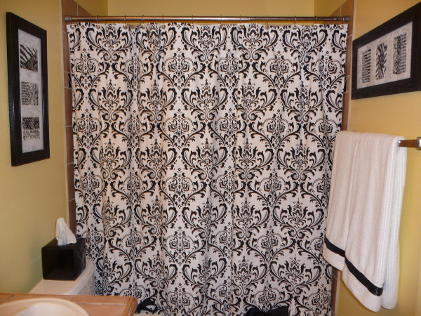 White gray black and yellow shower curtain myBlack And White Shower Curtain  Beautifully Designed BathroomBlack Toile Shower Curtain  Lime green bathroom with black white  . Black And Cream Shower Curtain. Home Design Ideas