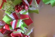 rag Christmas wreath
