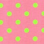 Polka Dots Candy Pink / Chartreuse
