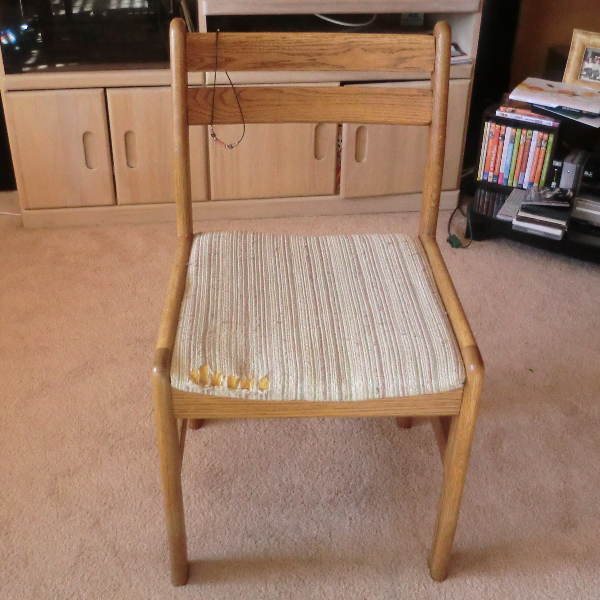Chair Makeover Recovering A Seat Best Fabric Store Blog